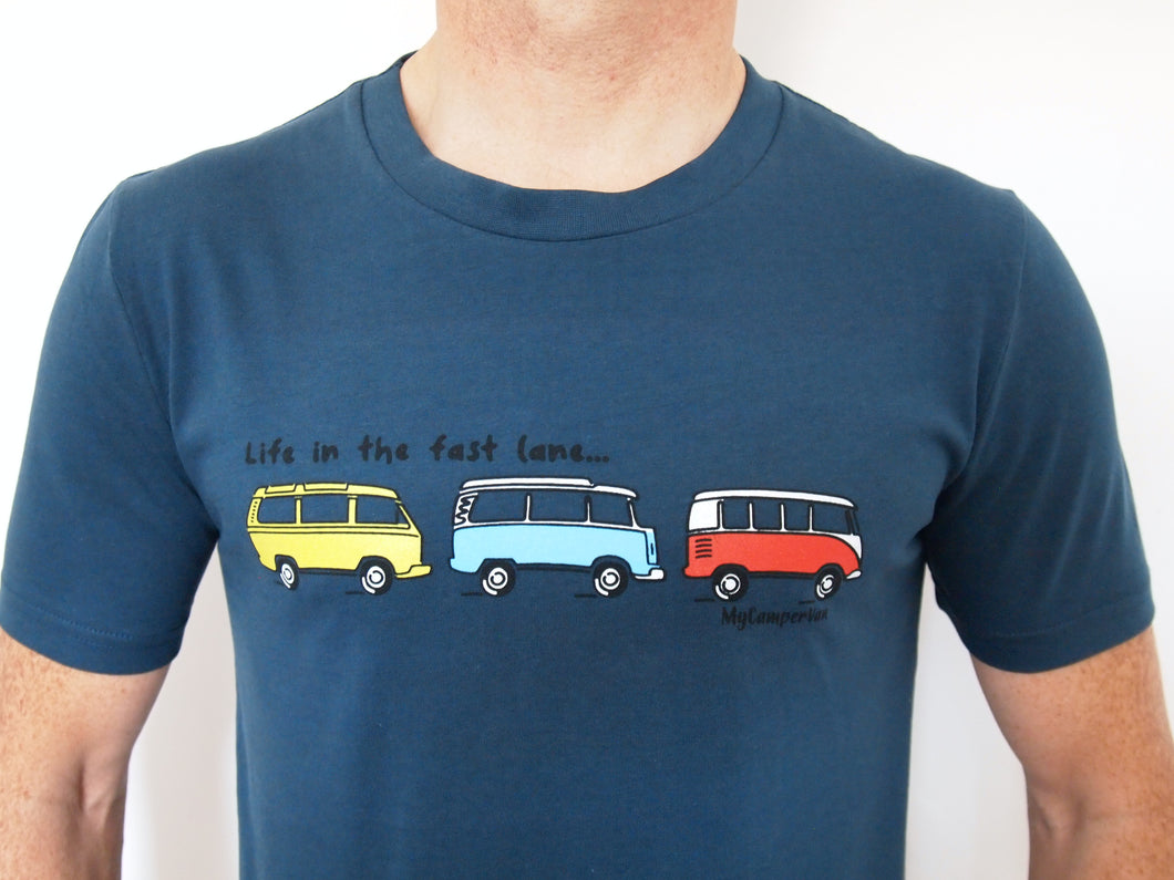 Clearance - T-Shirt Fast Lane - Denim Blue