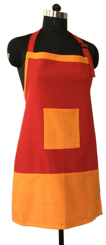 Lushomes Cotton Tomato and Sun Orange Bi-color Apron