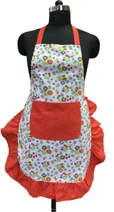 Lushomes Colorful Adorable Printed Frilly Apron