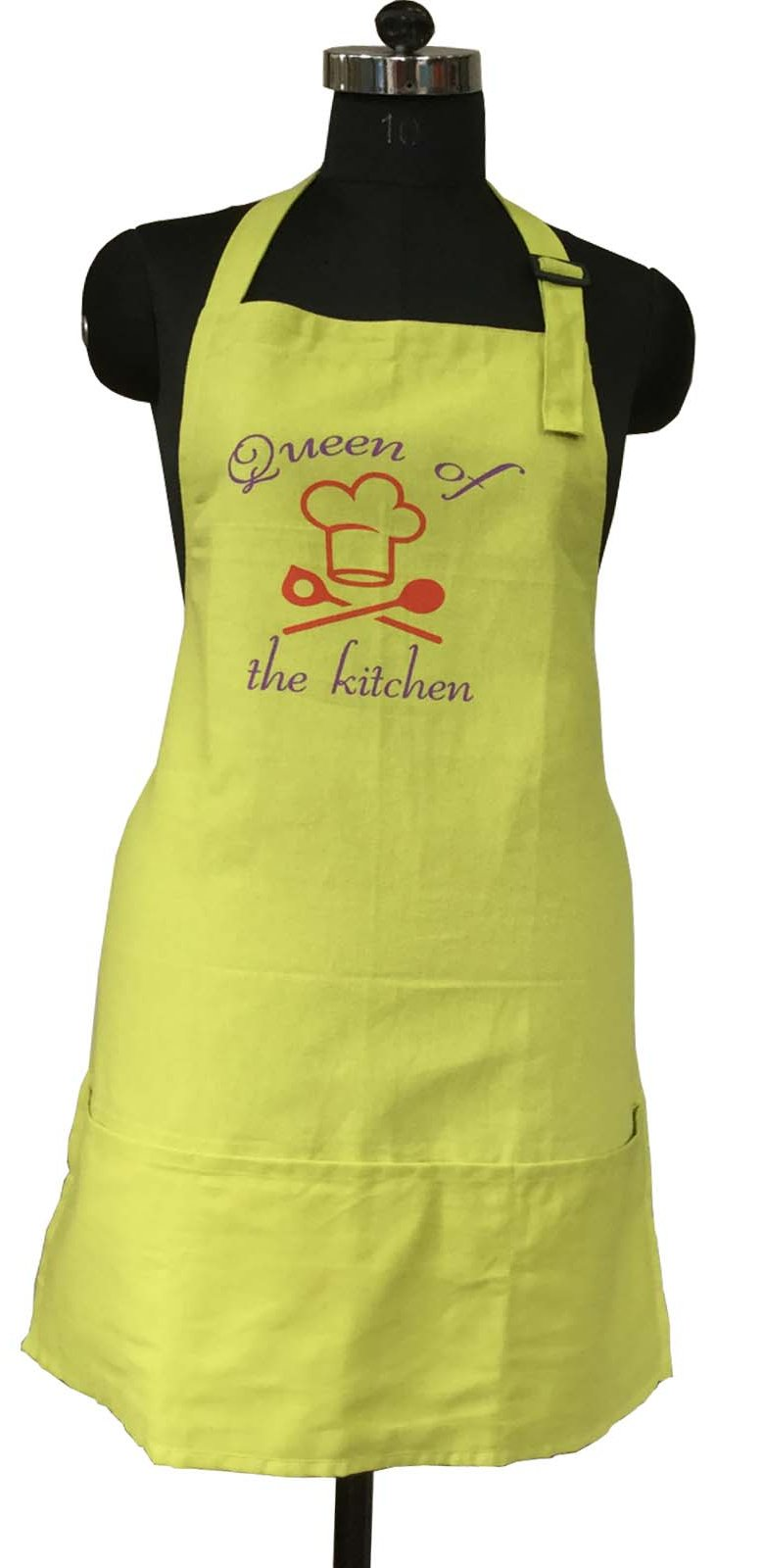Lushomes Cotton Witty Green Queen of the Kitchen Apron