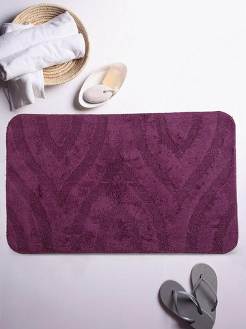Lushomes Ultra Soft Cotton Deep Purple Regular Bath Mat