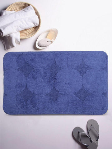 Lushomes Ultra Soft Cotton Ultramarine Regular Bath Mat
