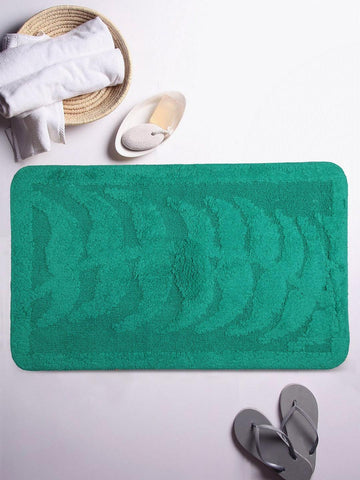 Lushomes Ultra Soft Cotton Vivial Green Regular Bath Mat