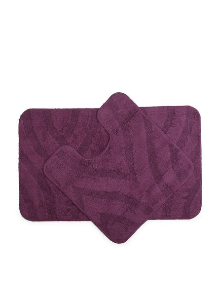 Lushomes Ultra Soft Purple Regular Bath Mat Set (1Pc Bathmat + 1Pc Contour)