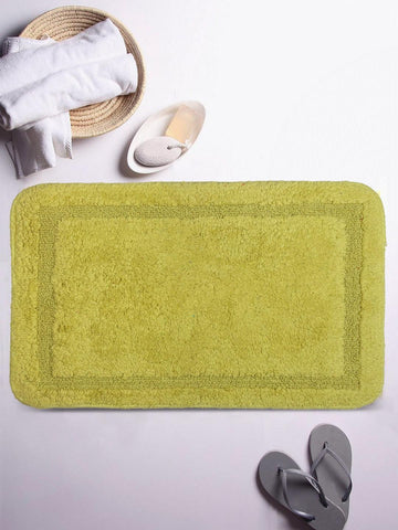 Lushomes Ultra Soft Cotton Fluorescent Green Regular Bath Mat