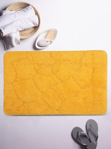 Lushomes Ultra Soft Cotton Citrus Yellow Regular Bath Mat