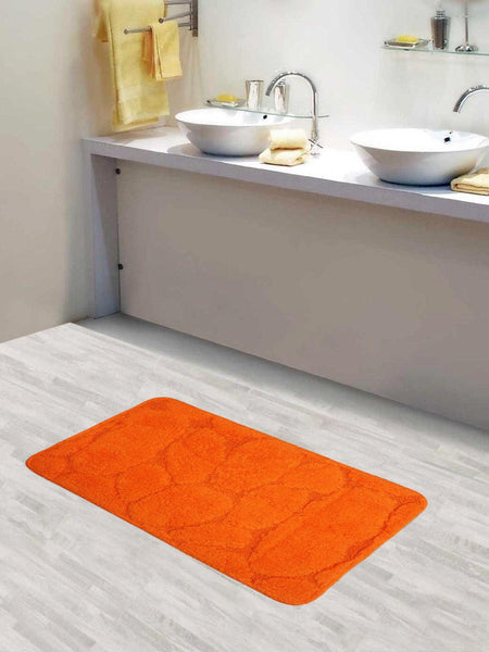 Lushomes Ultra Soft Cotton Carrot Orange Medium Bath Mat