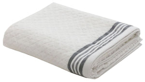 Lushomes Premium White Terry Cotton White Bath Towel (Super Absorbent)