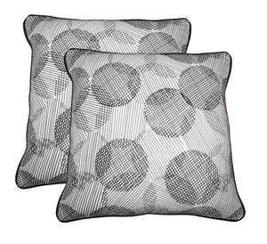 "Lushomes Geometric Print Cotton Cushion Covers (Size 12"" x 12"") Pack of 2"