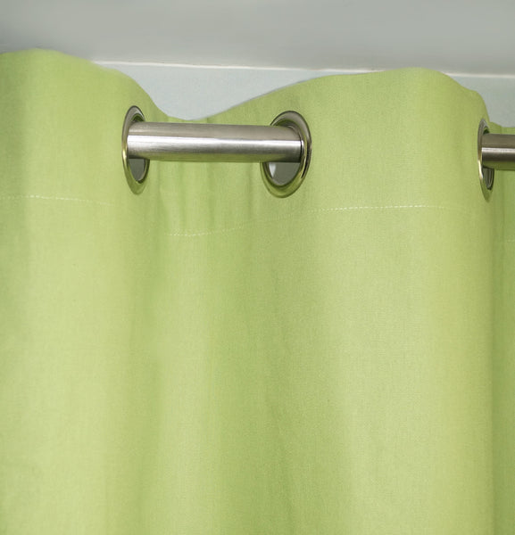 "Lushomes Ultra Soft & Premium Cotton Light Green Door Curtain with 8 metal eyelets and tieback, Size: 54""x90"" (single pc)"