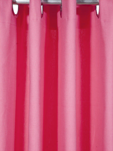 Lushomes Rasberry Plain Cotton Curtains With 8 Eyelets for Long Door