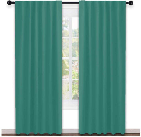 Lushomes Cotton Curtain and Drapes For Door ( W54 inches x H84 Inches, Pack of 2 Curtains)