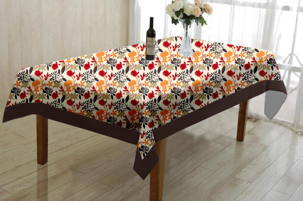 Lushomes Leaf Printed Centre Table Cloth