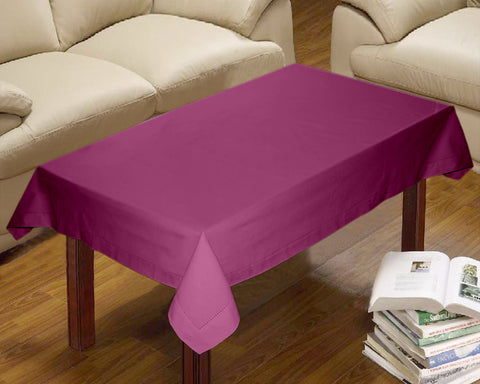 Lushomes Plain Bordeaux Centre Table Cloth