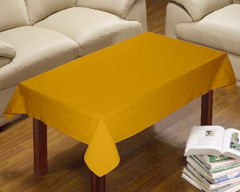 Lushomes Plain Lemon Chrome Centre Table Cloth