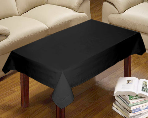 Lushomes Plain Pirate Black Centre Table Cloth
