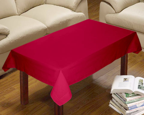 Lushomes Plain Rasberry Centre Table Cloth