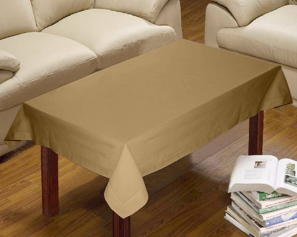 Lushomes Plain Sand Centre Table Cloth