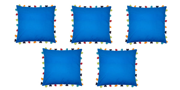 Lushomes Sky Diver Cushion Cover with Colorful tassels (Single pc, 20 x 20‰۝)