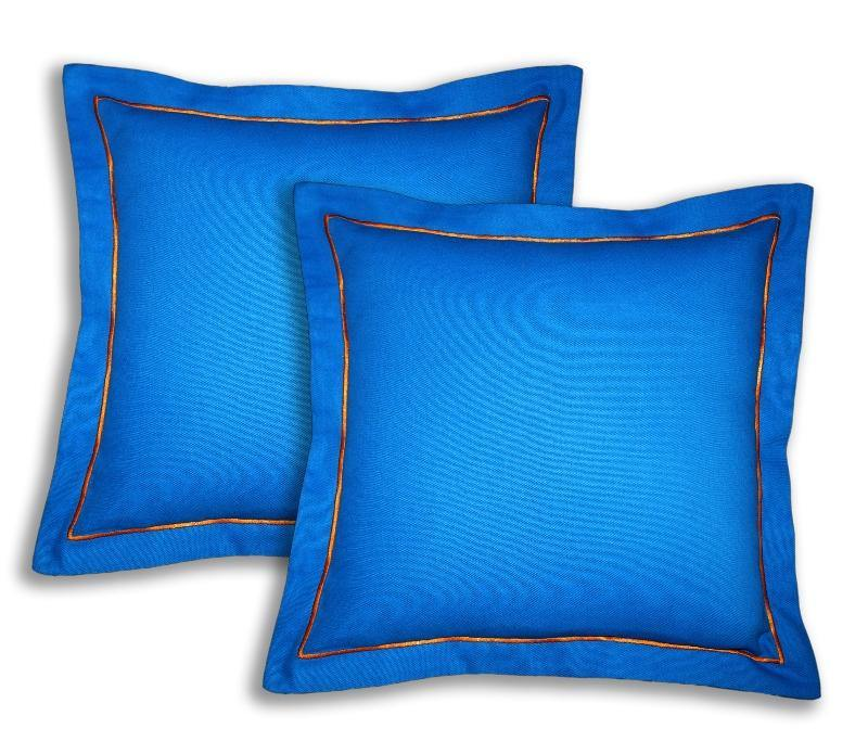 Lushomes Cotton Half Panama Sky Diver Cushion Covers (Pack of 2) - Lushomes