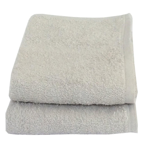 Lushomes Cotton Light Grey Cotton Hand Towel Set (Pack of 2) - Lushomes