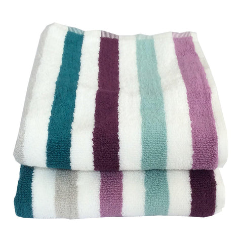 Lushomes Cotton Multi Hand Towel Set (Pack of 2) - Lushomes