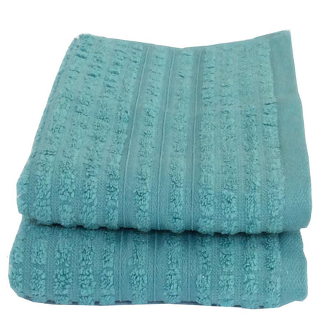 Lushomes Cotton Light Blue Hand Towel Set (Pack of 2) - Lushomes