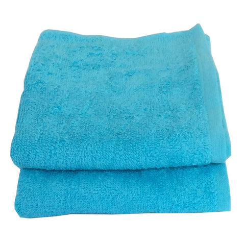 Lushomes Cotton Turq Blue Cotton Hand towel Set (Pack of 2) - Lushomes