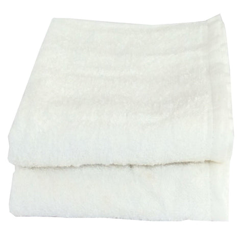 LUSHOMES Cotton White Hand Towel Set (Pack of 2) - Lushomes