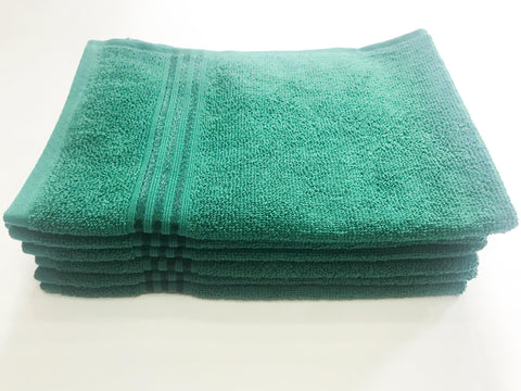 Lushomes Green Superior Cotton Hand Towel Set (40 x 60 cms, Pack of 6 Pcs) - Lushomes