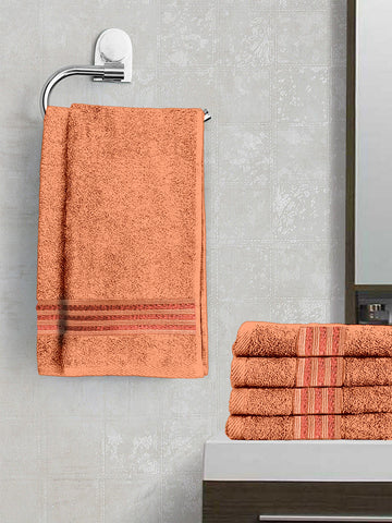 Lushomes Chocolate Brown Superior Cotton Hand Towel Set(40 x 60 cms, Pack of 6 Pcs) - Lushomes