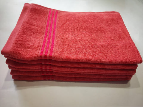 Lushomes Coral Superior Hand Towel 115 Grams Towel (40 x 60 cms, Pack of 6) - Lushomes