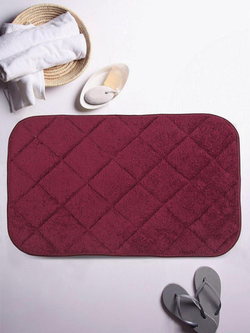 Lushomes Purple Large Ulra Soft Memory Foam Bathmat - Lushomes