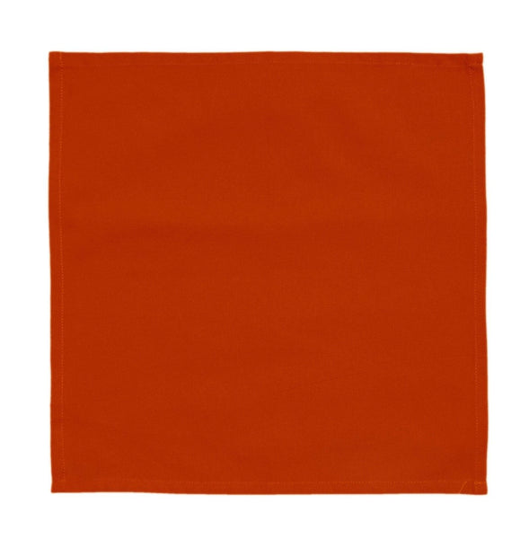 Lushomes Red Wood Cotton Plain 6 Table Napkins Set (Dinner Napkins) - Lushomes