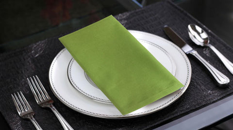 "Lushomes Palm Cotton Plain Dinner Napkins Set (6 pcs) Size: 16""x16"" - Lushomes"