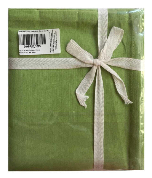 Lushomes Light Green Embroidered Cotton napkins with Rich motives (100 % Cotton, Pack of 6, 40 x 40 cms) - Lushomes