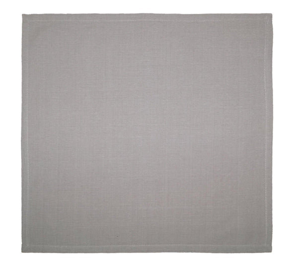 Lushomes Grey 6 Cotton Mats & 6 Plain Cotton Napkins (12 pcs) - Lushomes