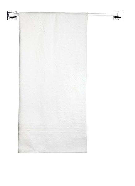 "Lushomes Off-White Super Soft and Fluffy Cotton Turkish Bath towel Size 24"" x 48""� (60 x 120 cms, single pc) - Lushomes"