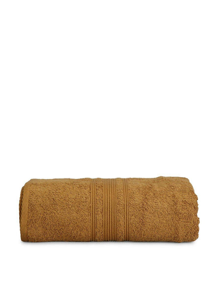 "Lushomes Olive Brown Super Soft and Fluffy Cotton Turkish Bath towel Size 24"" x 48""� (60 x 120 cms, single pc) - Lushomes"