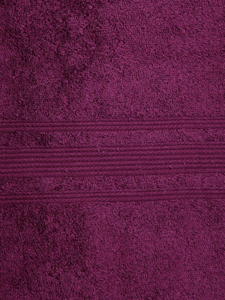 "Lushomes Dark Purple Super Soft and Fluffy Cotton Turkish Bath towel Size 24"" x 48""� (60 x 120 cms, single pc) - Lushomes"