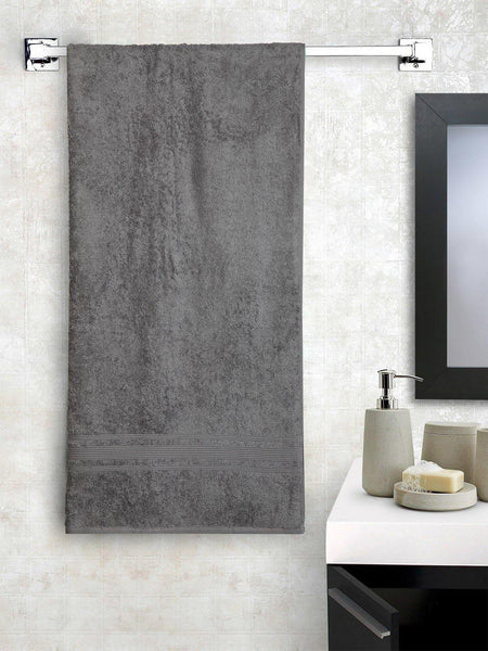 "Lushomes Sedona Sage Grey Super Soft and Fluffy Cotton Turkish Bath towel Size 24"" x 48""� (60 x 120 cms, single pc) - Lushomes"