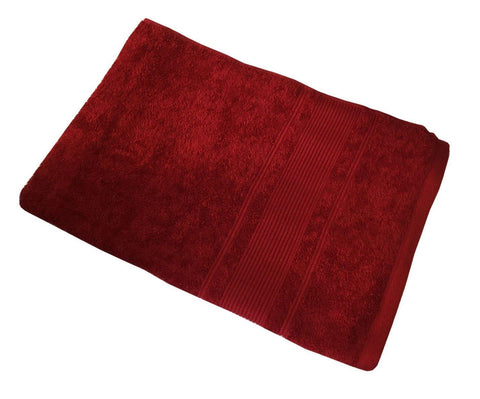 "Lushomes Red Ultra Absorbent Ladies Cotton Turkish Bath towel Size 24"" x 48""� (60 x 120 cms, single pc) - Lushomes"