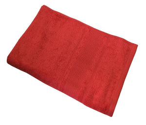 "Lushomes Tomato Red Ultra Absorbent Ladies Cotton Turkish Bath towel Size 24"" x 48""� (60 x 120 cms, single pc) - Lushomes"