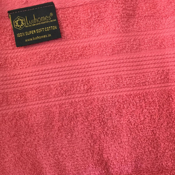 "Lushomes Pink Ultra Absorbent Ladies Cotton Turkish Bath towel Size 24"" x 48""� (60 x 120 cms, single pc) - Lushomes"