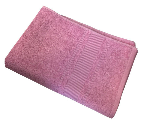 "Lushomes Baby Pink Ultra Absorbent Ladies Cotton Turkish Bath towel Size 24"" x 48""� (60 x 120 cms, single pc) - Lushomes"
