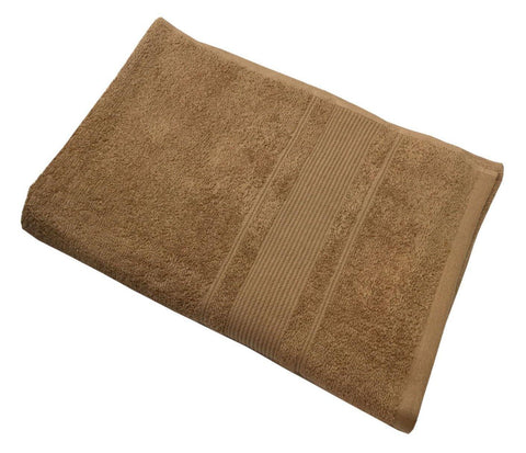 "Lushomes Brown Ultra Absorbent Ladies Cotton Turkish Bath towel Size 24"" x 48""� (60 x 120 cms, single pc) - Lushomes"