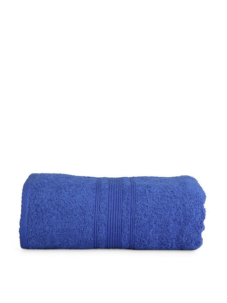 "Lushomes Nautical Blue Super Soft Absorbent and Fluffy Cotton Turkish Bath Towel (Size 30"" x 60""�,450 GSM) - Lushomes"