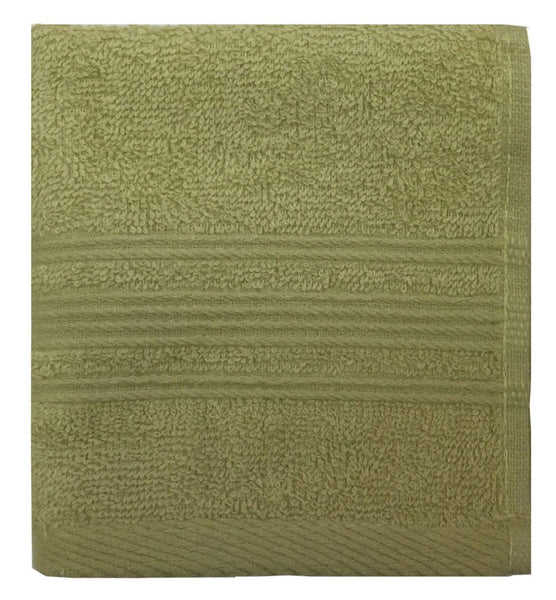 "Lushomes Shadow Green Super Soft and Fluffy Cotton Face Cloth Towel (Size 12 x 12""�, Pack of 12 Pcs, 450 GSM) - Lushomes"