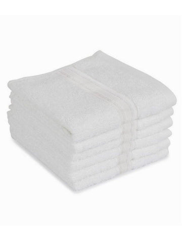 "Lushomes Off-White Super Soft and Fluffy Cotton Face Cloth Towel (Size 12 x 12"", Pack of 6 Pcs, 450 GSM)"