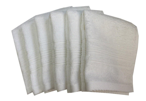 "Lushomes White Super Soft and Fluffy Cotton Face Cloth Towel(Size 12 x 12""�, Pack of 6 Pcs, 450 GSM) - Lushomes"